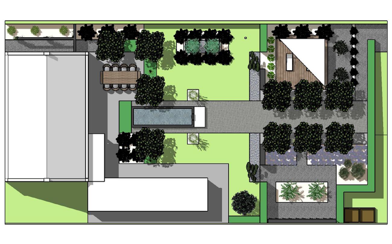 3D tuinontwerp portfolio ontwerp